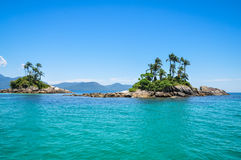 Rock Tropical Islands, Rio do Janeiro. Brazil. South America. Royalty Free Stock Photos