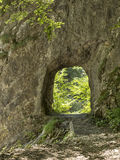Rock tunnel Royalty Free Stock Photos