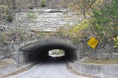 Rock tunnel in Iowa stock image