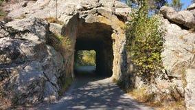 Rock tunnel in South Dakota royalty free stock photo