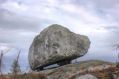 Rock up on the mountain Vottovaara, Karelia, Russi Stock Photos