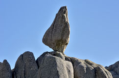 Rock with very rare form Royalty Free Stock Images