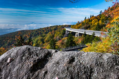 Rock View of Linn Cove Viaduct Royalty Free Stock Images