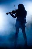 Rock Violinist Silhouette Stock Photo