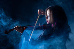 Rock Violinist Stock Photos