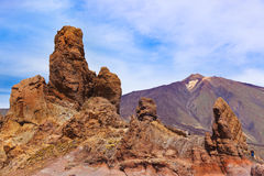 Rock at volcano Teide in Tenerife island - Canary Royalty Free Stock Image