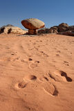 Rock in Wadi Rum desert Royalty Free Stock Images