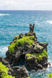 Rock at Wai'anapanapa, Maui. View of the rock at Wai'anapanapa, Maui Royalty Free Stock Photo