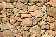 Rock wall. Yellow rock wall pattern for background Royalty Free Stock Photography