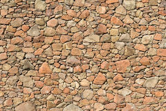 Rock wall. Yellow rock wall pattern for background Royalty Free Stock Photo