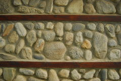 Rock wall. A textured rock wall on a building Stock Photography