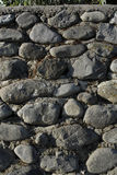 Rock wall. A hand made rustic rock wall at sunset Royalty Free Stock Image