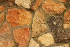 Rock Wall. In a cobblestone pattern Royalty Free Stock Photography