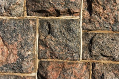 Rock wall. Closeup of a wall Stock Images