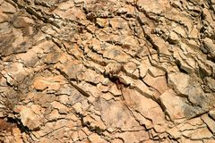 Rock Wall. Braun rock wall for a texture background Stock Image