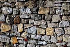 Rock wall. Old rock wall as background Royalty Free Stock Photography