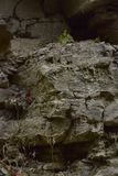 Crumbling Rockface Abstract Texture Background Stock Photography