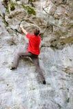 Rock wall climbing Stock Photos