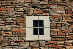 Rock Wall with Concrete Window Stock Image
