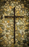 Rock Wall Cross Royalty Free Stock Images