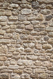 Rock Wall. Detail of a rock wall, close up textured Royalty Free Stock Images