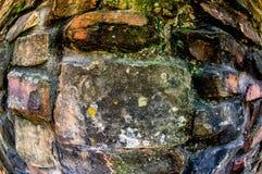 Rock Wall & Fisheye Lens Stock Photography
