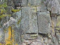 Rock wall of a 300 foot deep canyon gorge Stock Photos