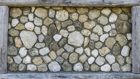 Rock wall with frame. Fun idea for a frame you just put it on a rock wall and voila Royalty Free Stock Photo
