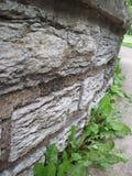 Rock Wall In Garden Stock Photo