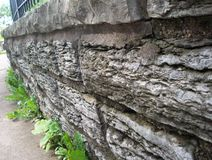 Rock Wall In Garden Royalty Free Stock Image