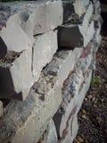 Rock Wall In Garden Royalty Free Stock Photo