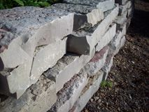 Rock Wall In Garden Royalty Free Stock Photos