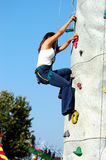 Rock Wall Girl stock image