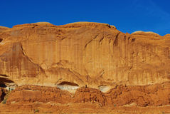 Rock wall near Moab, Utah. Rock wall near Moab in Utah Royalty Free Stock Image