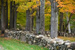Rock wall, New England Stock Photos