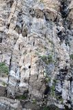Rock wall in Paxos island royalty free stock image