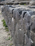 Rock wall in the river embankment. Walking the river quayside taking a pictures Stock Images