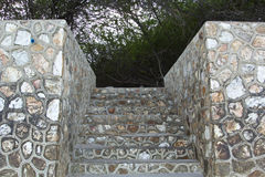 Rock wall and stone steps texture Royalty Free Stock Photo