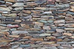 Rock wall. The stone wall and strong natural material Royalty Free Stock Photography
