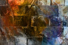 Rock Wall Texture. background. Coloor efect Royalty Free Stock Images