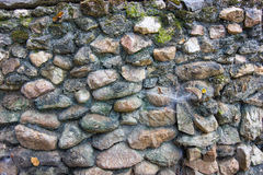 Rock Wall - Thailand. A wall constructed from rock. Thailand Royalty Free Stock Images