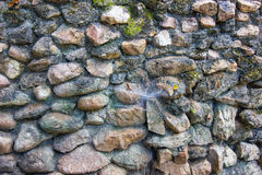 Rock Wall - Thailand. A wall constructed from rock. Thailand Stock Images