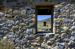 Rock Wall with Window Royalty Free Stock Images