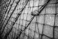 Rock wall with wire Royalty Free Stock Images