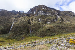 Rock walls in the El Altar. Sangay National Park Royalty Free Stock Photography