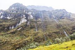 Rock walls in the El Altar volcano. Sangay National Park Stock Photography