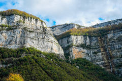 Rock walls in Vercors Royalty Free Stock Photos
