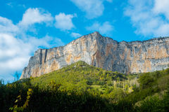 Rock walls in Vercors Royalty Free Stock Photo