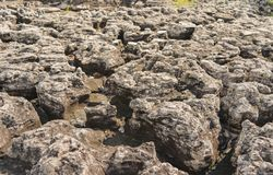 The rock was eroded by rain, wind, water, for make background Royalty Free Stock Photography