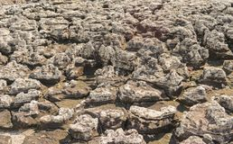 The rock was eroded by rain, wind, water, for make background Royalty Free Stock Photo